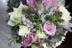 Lilac and grey bride bouquet