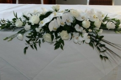 Top table traditional arrangement