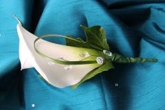 Bespoke calla lily button hole