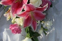 Pink lily shower bouquet