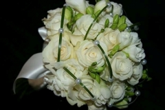 Contemporary roses overlayed with pearls