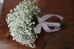 All gyp bride posy