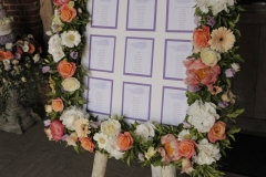 Seating plan frame