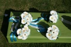 Turquoise bridesmaid posies